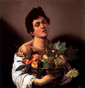 Boy with a basket of fruit, 1593 Caravaggio